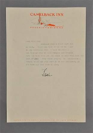 1945-Apr, John F. Kennedy, Signed Letter