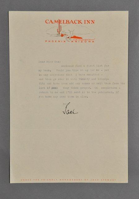 20: 1945-Apr, John F. Kennedy, Signed Letter