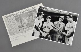 24: 1946-May, John F. Kennedy, Photo with Red Sox