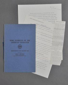 1946-July, J. F. K., Faneuil Hall Speech