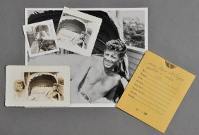 1946-John F. Kennedy, (3) Snap-shots On Porch