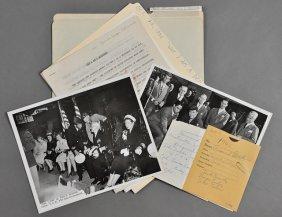 1946-Oct, J. F. K., Speech And Photos
