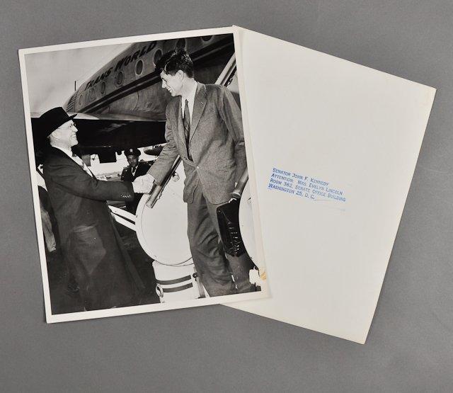 51: 1952-J.F.K., Photo w/ Dad after Senate Race