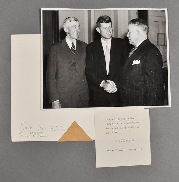 52: 1953-Jan, J.F.K., Photo Signed A. W. Barkley