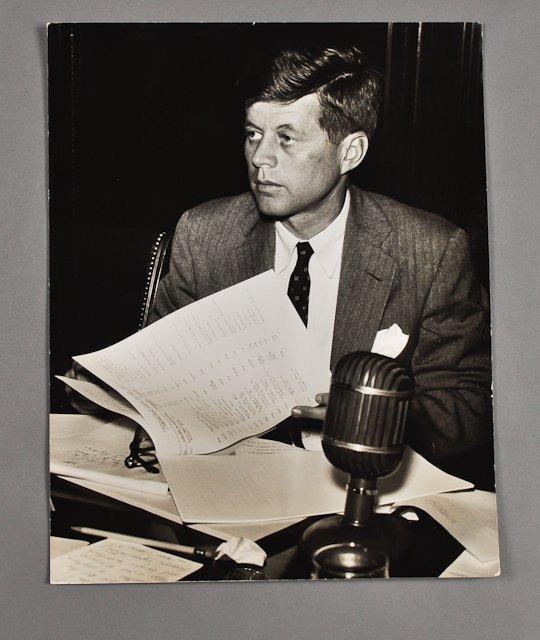 53: 1953-Apr, Sen. J.F.K., Photo by Ollie Atkins