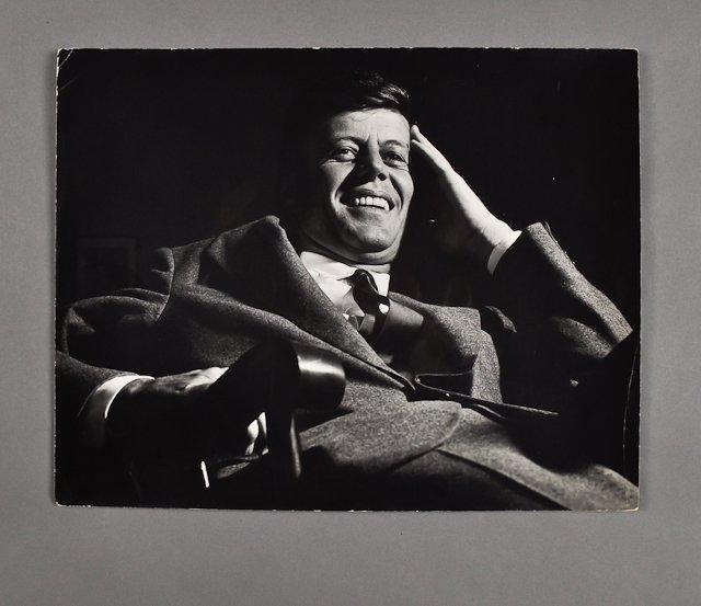 54: 1953-Apr, Sen. J.F.K., Photo by Ollie Atkins
