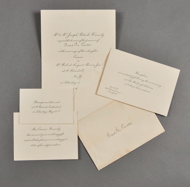 55: 1953-May, Eunice Kennedy Wedding Invitation