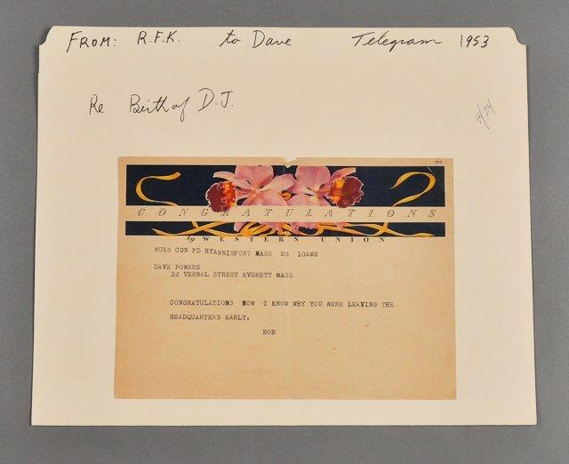 57: 1953-Robert F. Kennedy, Telegram to D. Powers