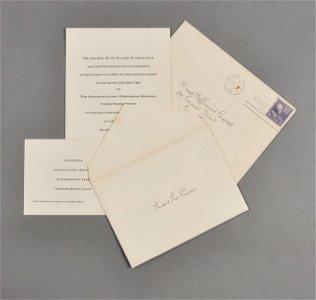 58: 1953-Sept, J.F.K. & Jackie  Wedding Invite
