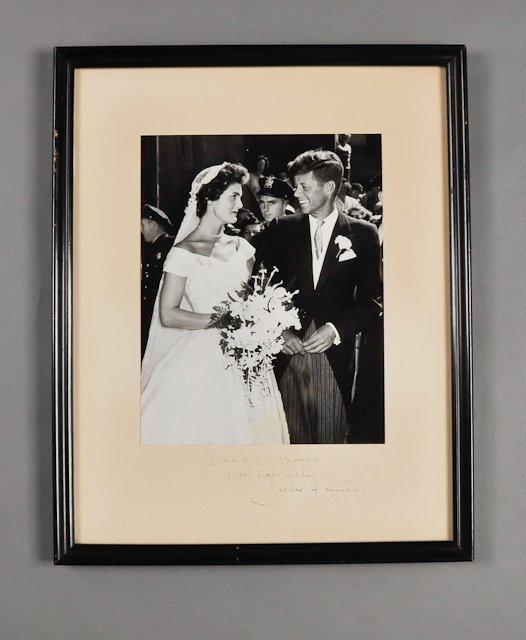 62: 1953-Sept 12, Jackie Kennedy, Signed Photo