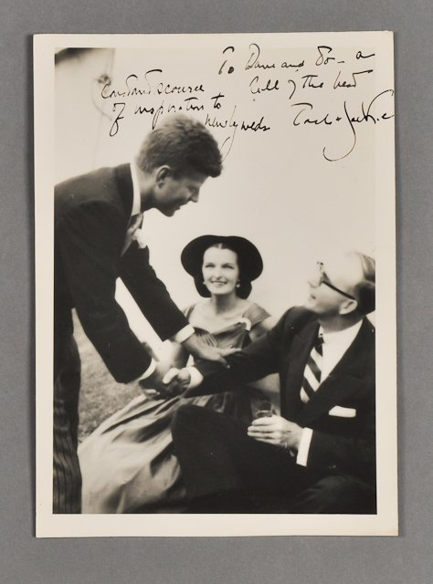 63: 1953-Sept 12, J.F.K. and Jackie, Signed Photo