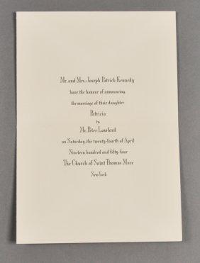 1954-Apr, Kennedy/Lawford Announcement