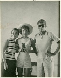 72: 1954-Jackie, Ethel and J.F.K. Photograph