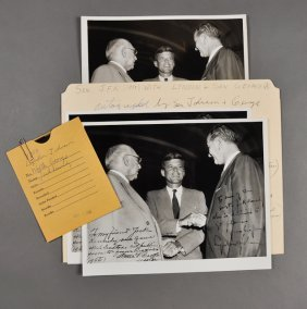 1955-J.F.K., Photo With Johnson And George