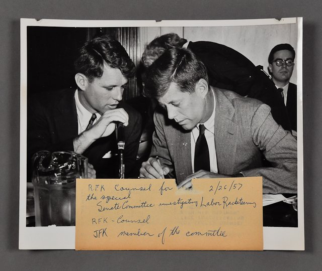 102: 1957-Feb, J.F.K. United Press Photograph
