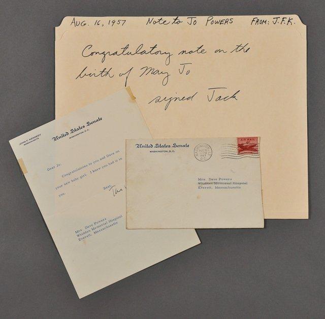 105: 1957-Aug, Senator J.F.K. Signed Letter