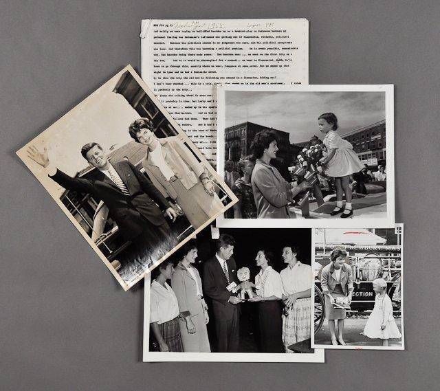 116: 1958-Nov, J.F.K. & Jackie Campaign N. Shore