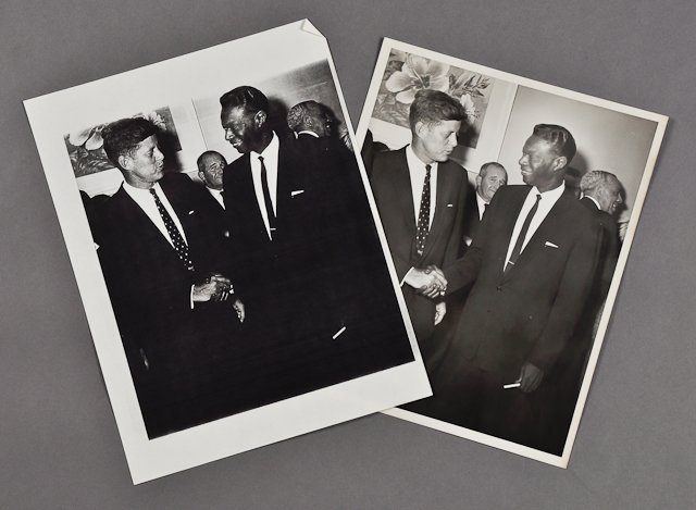 118: 1958-J.F.K. with Nat King Cole