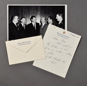 1961-Dec, Ted Kennedy, Signed Letter