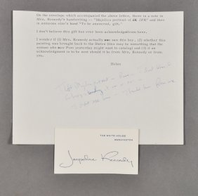 1962-Jackie, Hand Written Remarks, Rome