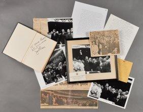 1962-Apr 9, J.F.K., Opener, Jack Paar Signed Book