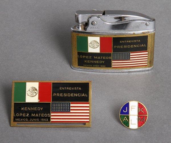 312: 1962-June 29, J.F.K., Mexico Trip, Rare Zippo