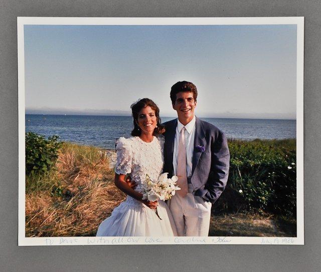 670: 1986-July 19, Caroline and John Signed Photo
