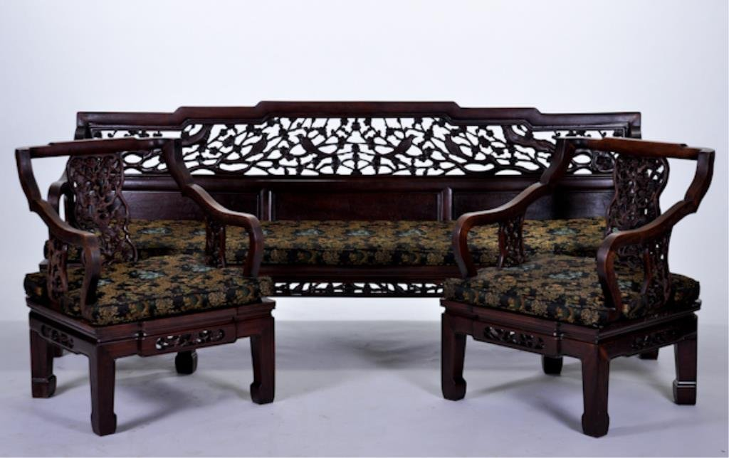 20th C Asian Carved Bench