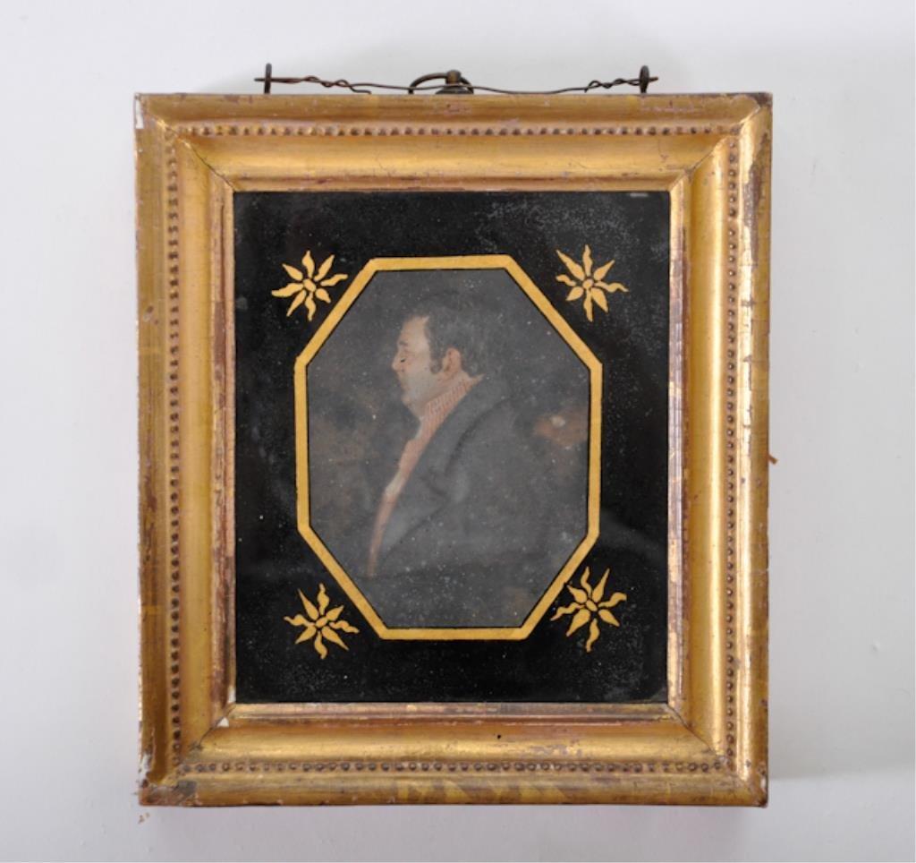 Federal Period Wax Portrait