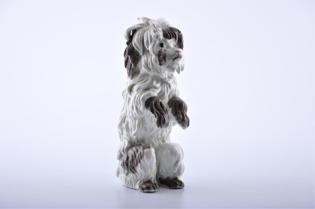 Porcelain Continental Dog Figurine