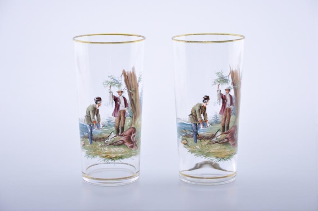 Enamel Paint-Decorated Glasses
