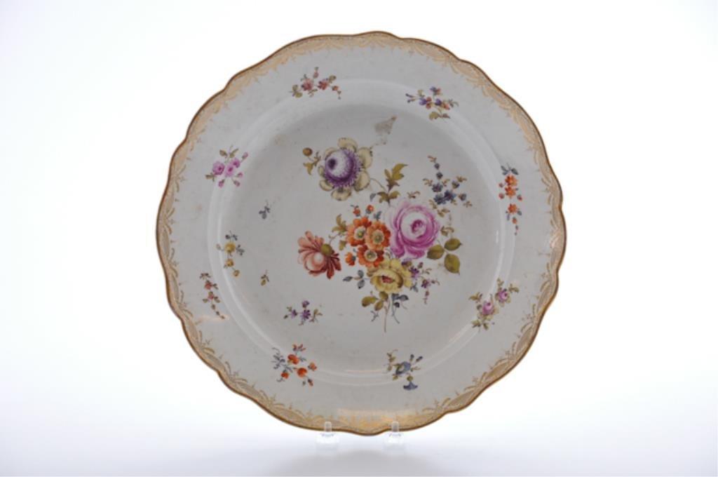 Floral Meissen Dish