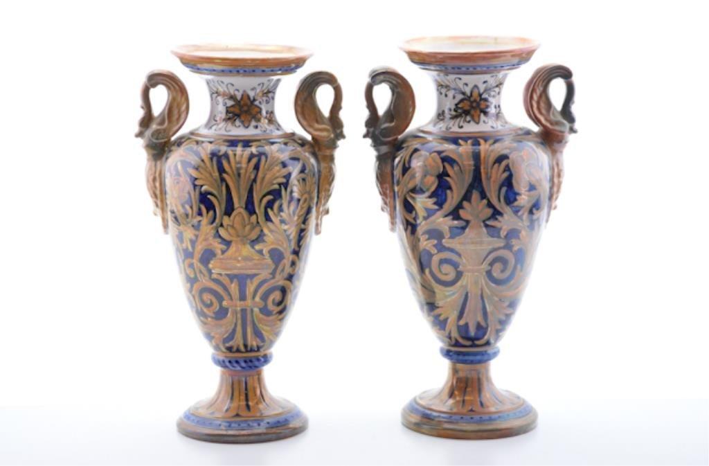 Italian Hand Painted Vases.