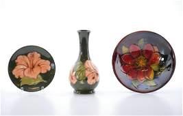 Group of Moorcroft Pottery Ceramics