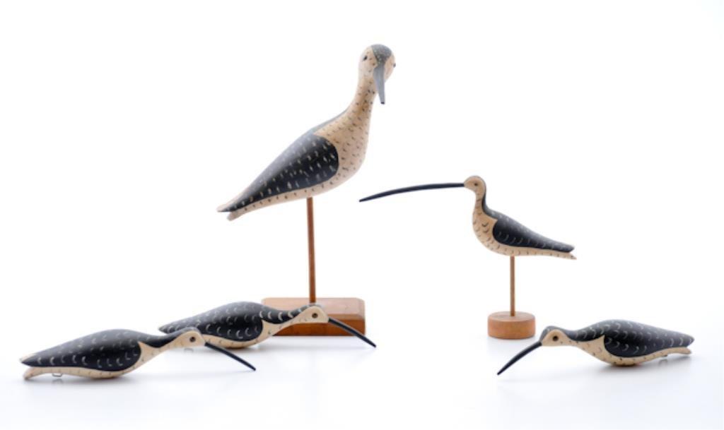 Five Shorebird Decoys