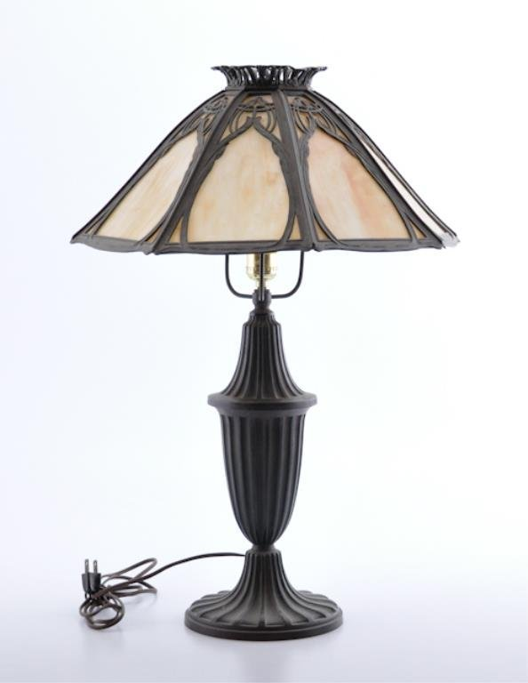1920'S Bent Panel Table Lamp