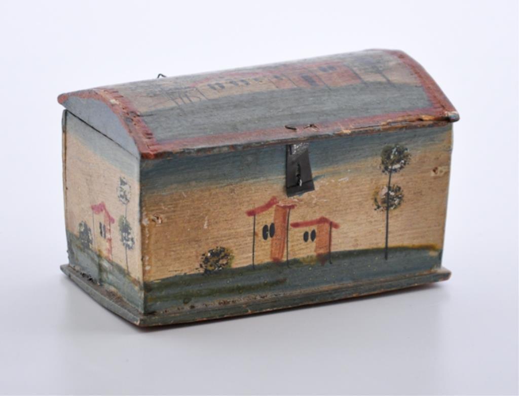 (19th c.) Miniature PA Folk Art Box