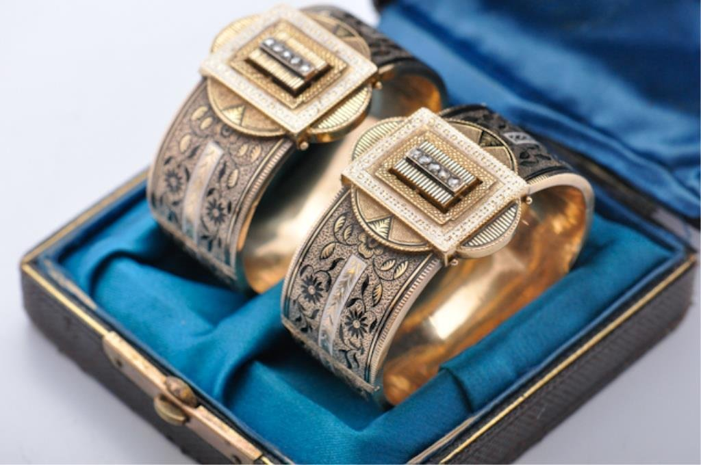 Pair of Gold Victorian Bracelets
