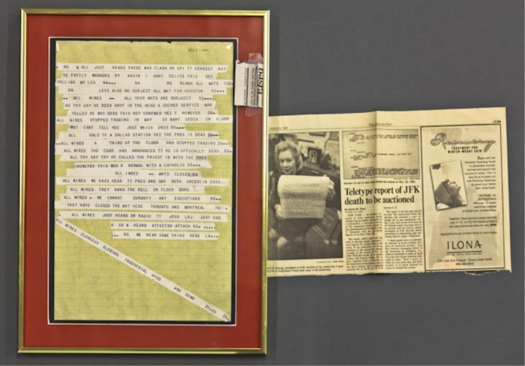 Associated Press Wire on John F. Kennedy Assassin