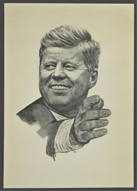 John F. Kennedy Portrait by Robert Rogers