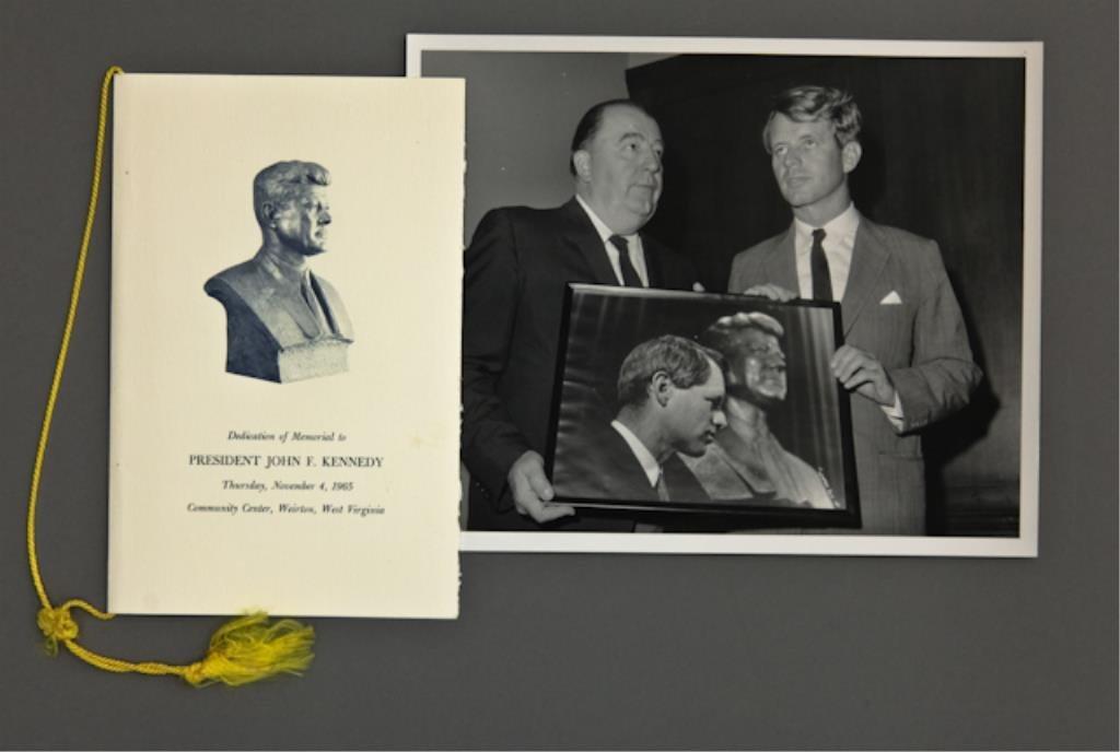 John F. Kennedy Bust Unveiling Program