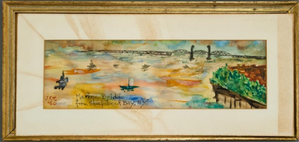 Watercolor by John F. Kennedy