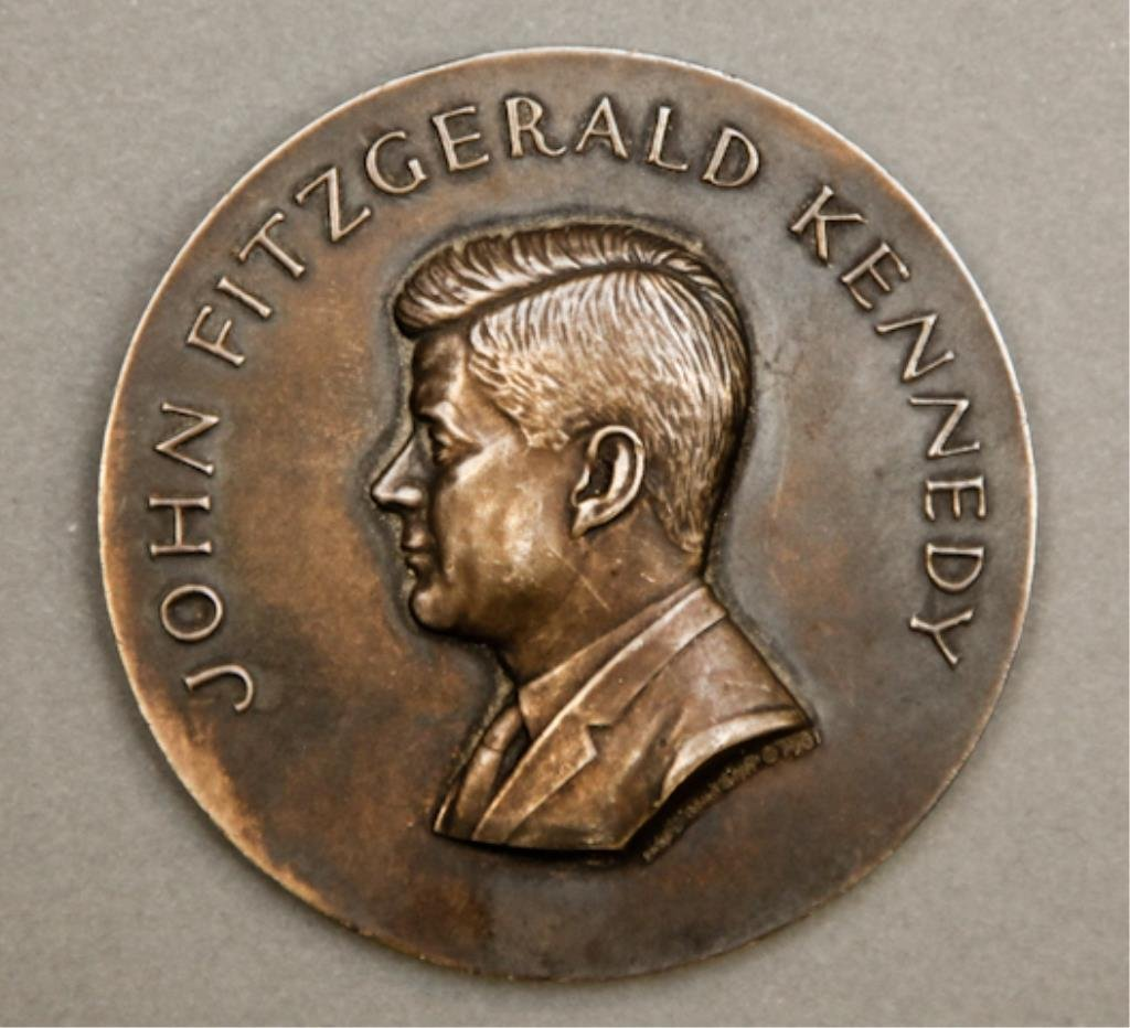 Rare Sterling Kennedy Medal by Paul Manship