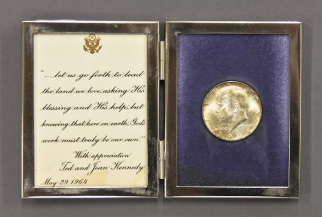 Ted and Joan Kennedy John F. Kennedy Tribute Gift