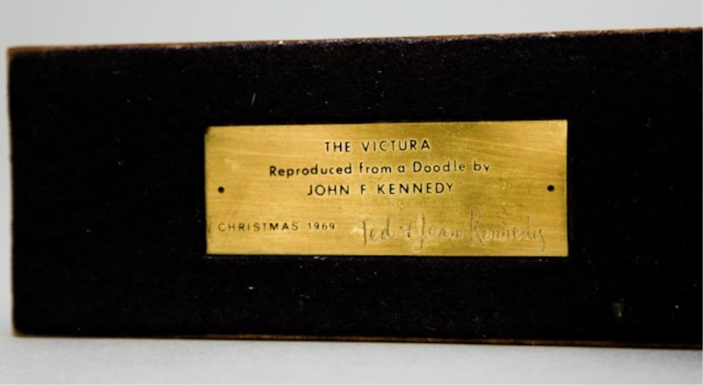 John F Kennedy Victura Sculpture-Lem Billings Gift - 2