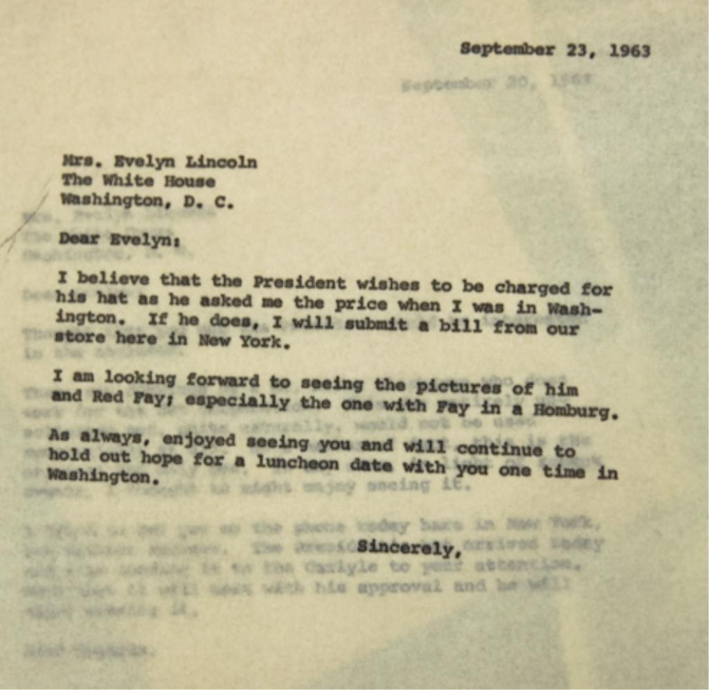 John F. Kennedy's Cavanagh Fedora - 4