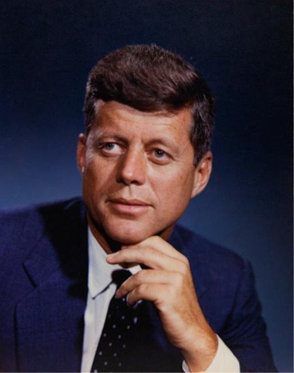 John F. Kennedy Dye Transfer Fabian Bachrach Portr
