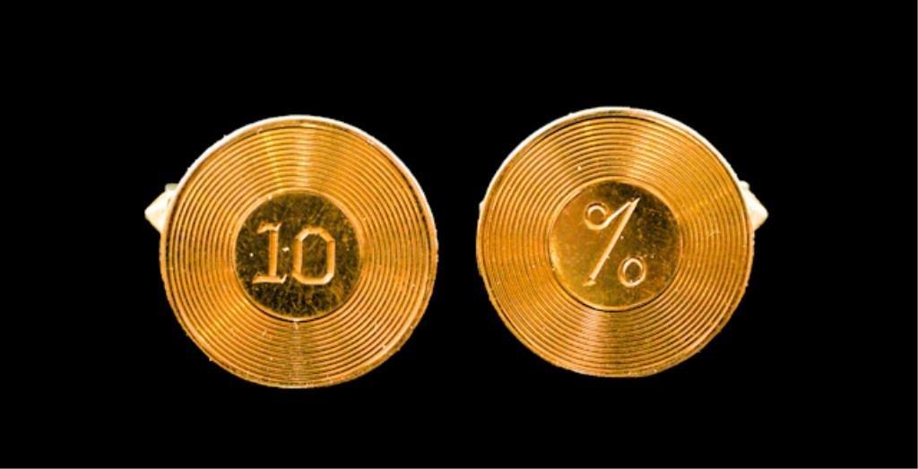 14K Gold Cufflinks Gift To Milt Ebbins