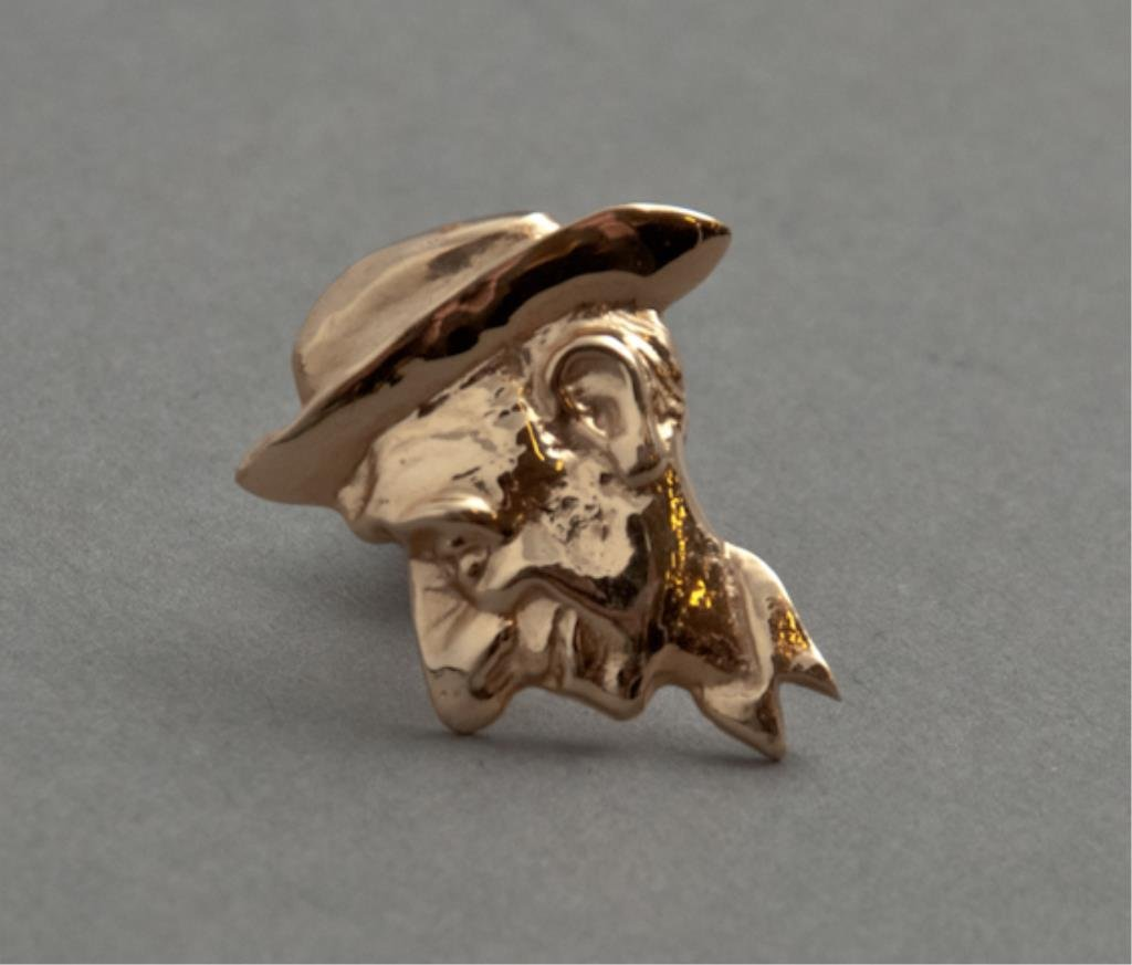 14K Gold Jimmy Durante Tie Tack