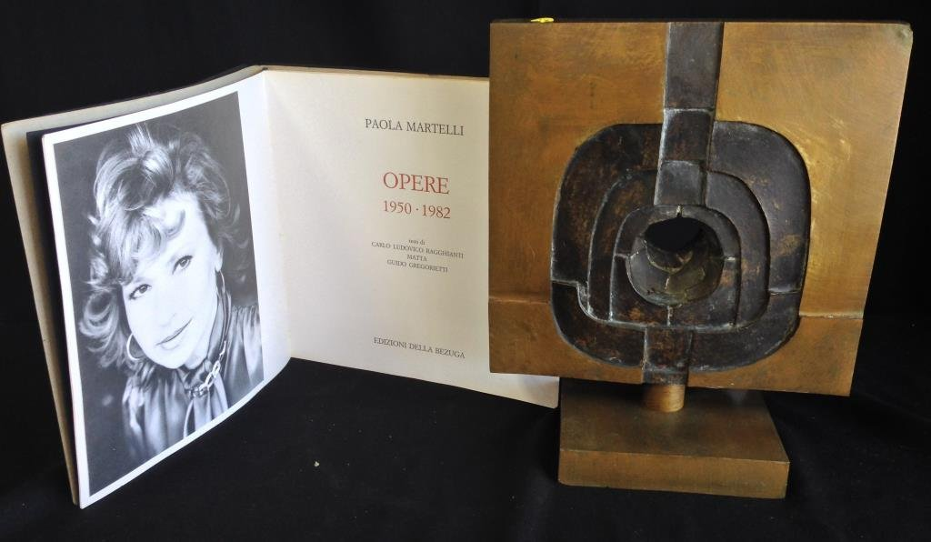 Paola Martelli Modernist Bronze Sculpture